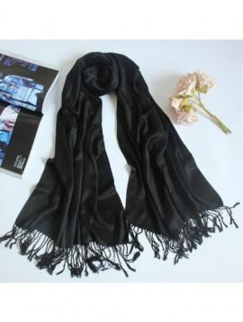 Klassisk Sort Tørklæde