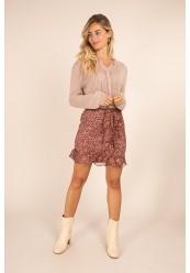 Kort nederdel med flæse
