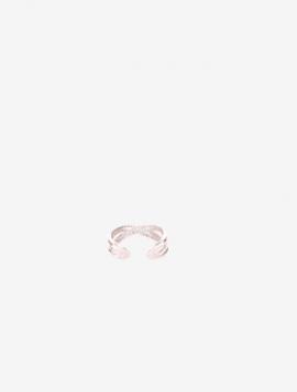 Justerbar Ring Sølvfarvet