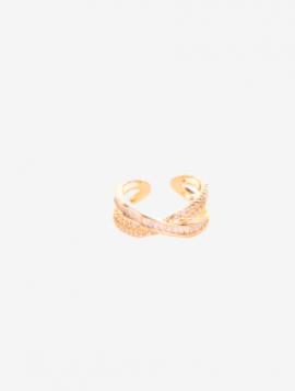 Justerbar guldring med sten
