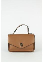 Håndtaske med Guldspænde