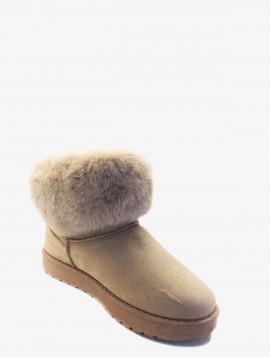 Bamsestøvle med pelskant