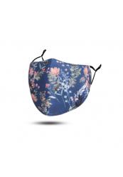 Mundbind Blå Blomster