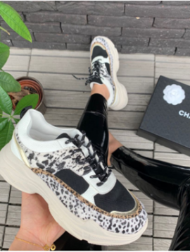 Sneakers White Leopard