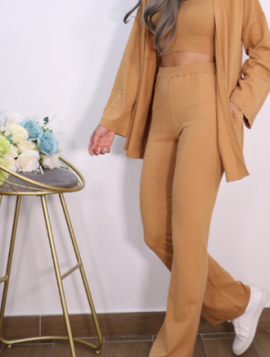 3-Delt Sæt Top + Cardigan + Bukser