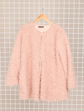 Faux Fur Fluffy Jakke