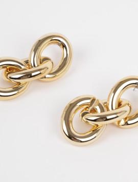 Øreringe Chain i Guld