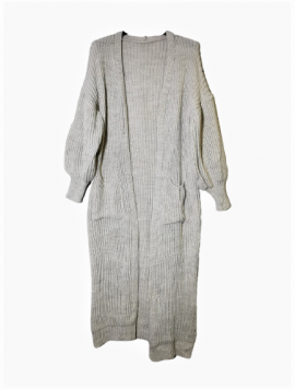 Lang strikket Cardigan