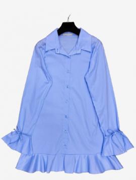 Skjortekjole lyseblå