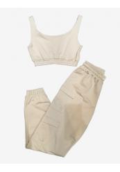 Cargo bukser crop-top sæt