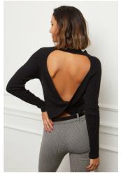 Bluse med åben ryg