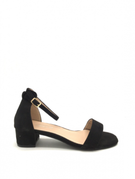 Sandal med lav blokhæl