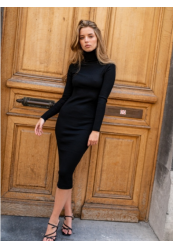 Turtleneck Bodycon kjole