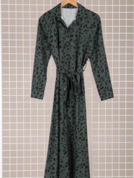 Lang kjole med print