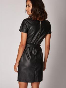 Faux Leather Kjole