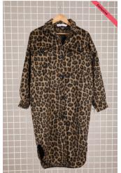 Oversized Leopard Frakke