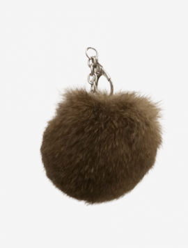 Nøglering faux fur pels