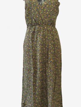 Mønstret maxi kjole