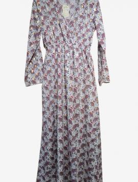 Blomstret maxi kjole