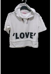 Hooded LOVE T-shirt