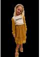 Blomstret nederdel