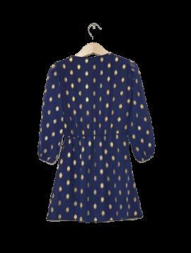 Kjole med guldprint