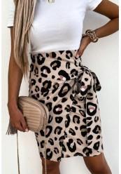 Nederdel leopard print
