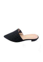 Slip in sandal med nitter