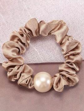 Scrunchie med perle