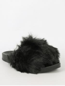Faux Fur Sandal