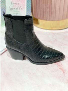 Spidse croco ankelstøvler