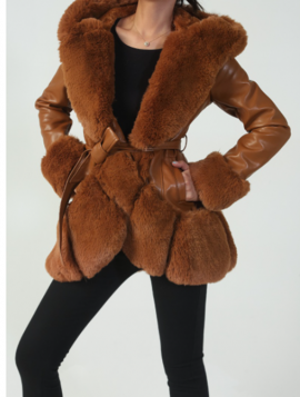 Frakke faux fur