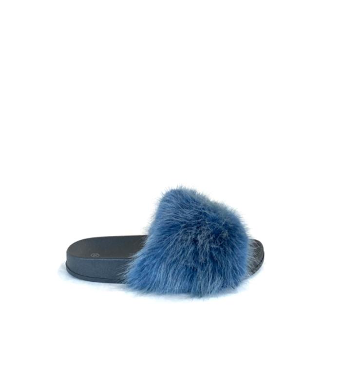 Pelsslippers faux fur