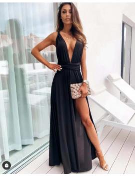 Maxi kjole med åben ryg