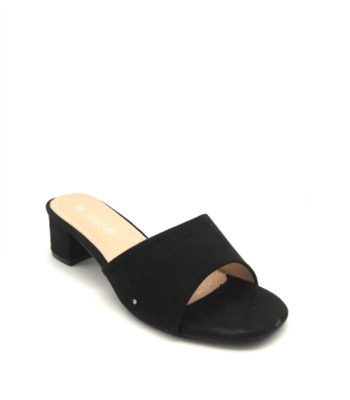 Slip in sandal med hæl