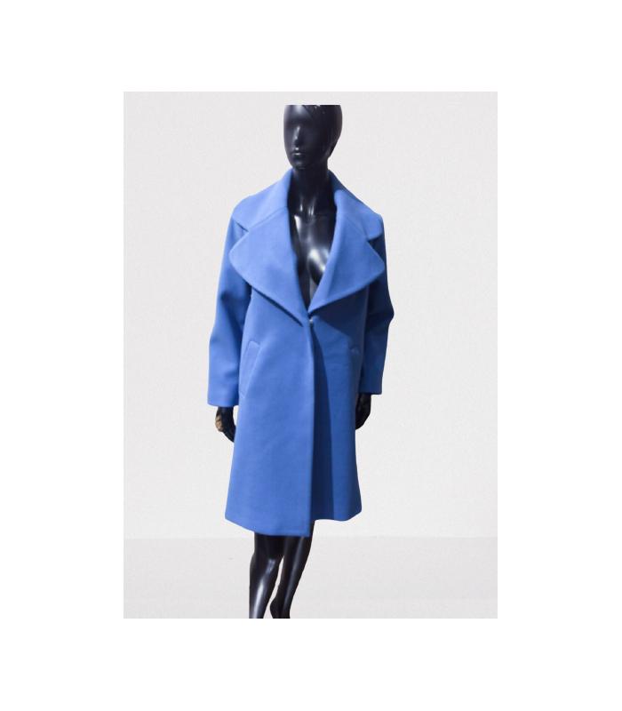 Frakke med stor krave