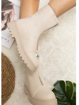 Ankelstøvle med lynlås
