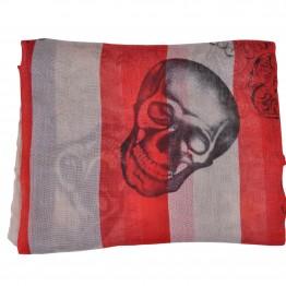 Tørklæde med amerikansk flag og kranie