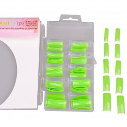 Neon grønne negletipper