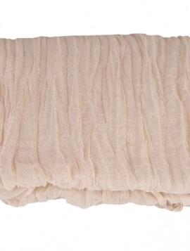 Let cremefarvet tube tørklæde