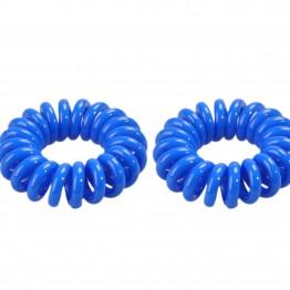 Image of   kongeblå spiral hårelastik