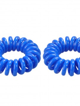 kongeblå spiral hårelastik