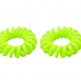 Image of   Neon grøn spiral hårelastik