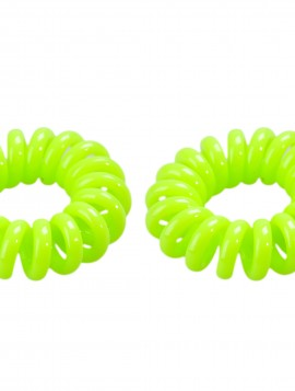 Neon grøn spiral hårelastik