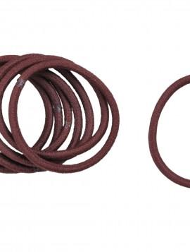 Bundt med 8stk mørkebrune hår elastikker