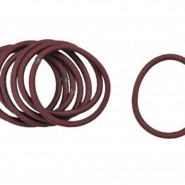 Image of   Bundt med 8stk mørkebrune hår elastikker