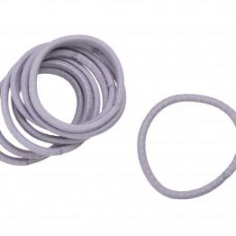 Image of   Bundt med 8 stk grå hårelastikker