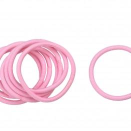 Image of   Bundt med 8 stk lyserøde hårelastikker