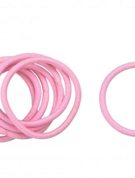 Bundt med 8 stk lyserøde hårelastikker