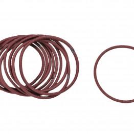 Image of   Bundt md 10 stk Tynde brune hårelastikker